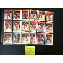 1990 O-PEE-CHEE CENTRAL RED ARMY HOCKEY CARD COMPLETE SET (22/22)