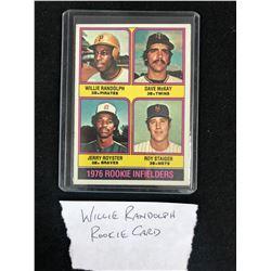 1976 TOPPS #592 WILLIE RANDOLPH ROOKIE INFIELDERS ROOKIE CARD