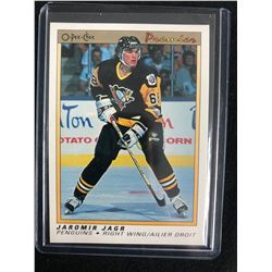 Jaromir Jagr 1990-91 O-Pee-Chee Premier Rookie Card #50 Pittsburgh Penguins