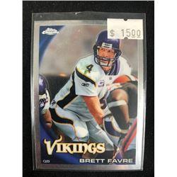 2010 Topps Chrome #C90 Brett Favre Minnesota Vikings Football Card