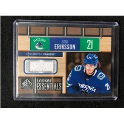 2018-19 UPPER DECK SP GAME USED #LE-LE LOUI ERIKSSON LOCKER ESSENTIALS HOCKEY CARD