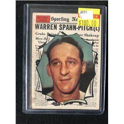 1961 Topps #589 Warren Spahn
