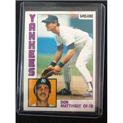 1984 O-Pee-Chee Don Mattingly Rookie Card #8