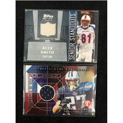 GAME WORN JERSEY FOOTBALL CARD LOT