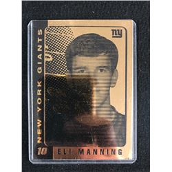 2003 ELI MANNING NY GIANTS ROOKIE 23K GOLD CARD OFFICIALLY LICENSED