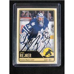 JAMES REIMER SIGNED O-PEE-CHEE HOCKEY CARD