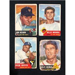 1953 TOPPS BASEBALL CARD LOT