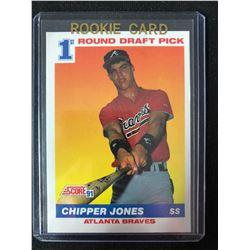 1991 Score Chipper Jones 1st Round Draft Pick Rookie Card