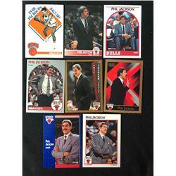 PHIL JACKSON BASKETBALL CARD LOT