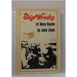 Zinck: Shipwrecks of Nova Scotia: Volume 1