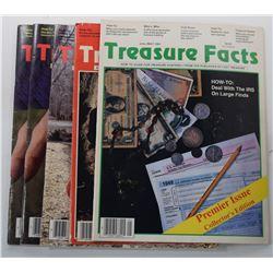 Treasure Facts Magazine 1991 through 1994 Issues