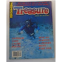 Treasure Magazine August 1992 Issue Signed by Carl Fismer