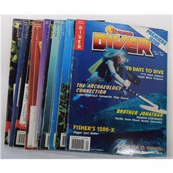 Treasure Diver Magazine 1989 through 1993 Issues