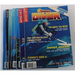 Treasure Diver Magazine 1989 through 1990 Issues