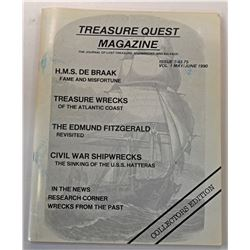 Treasure Quest Magazine 1990 through 1998 Issues including Issue Number 1