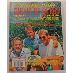 Treasure Quest Magazine Winter 1994 Issue Signed by Carl Fismer