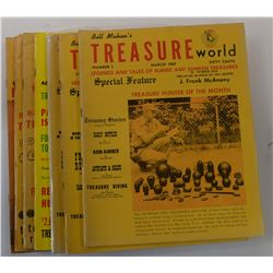 Bill Mahan's Treasure World Magazine 1967 through 1968 Issues w/ issue signed by salvor Art Hartman