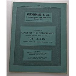 Glendining & C0. CATALOGUE OF COINS OF THE NETHERLANDS RECOVERED FROM THE DUTCH EAST INDIAMAN DE LIE