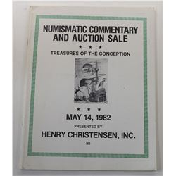 Henry Christensen, Inc. NUMISMATIC COMMENTARY AND AUCTION SALE - TREASURES OF THE CONCEPCION
