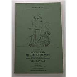 Sotheby & Co. CATALOG OF COINS AND OTHER ARTIFACTS RECOVERED FROM THE WRECK OF THE DUTCH EAST-INDIAM