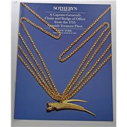 Sotheby's New York. A CAPTAIN-GENERAL'S CHAIN AND BADGE OF OFFICE FROM THE 1715 SPANISH TREASURE FLE