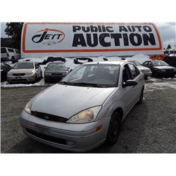 A5 --  2002 FORD FOCUS SE , Silver , 264,426  KM's