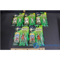 (5) NIB Star Wars Power of The Jedi Toys