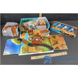Racing Cars and Micro Machines Travel Toy Cars and Terrain Set
