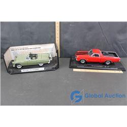 1956 Ford Thunderbird and 1970 Chevrolet El Camino Model Cars