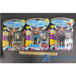 (3) Star Trek The Next Generation Action Figures - Dr. Beverly Crusher, Locutus, and K'ehleyr