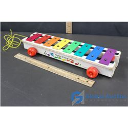 Vintage Fisher Price Roll Behind Xylophone