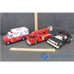 Fisher Price Truck, Fire Rescue Bucket Truck, Rescue 18 Ambulance W/ Lights and Sounds!