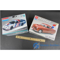 1:25 Scale 1949 Ford Coup (NIB) and 1:24 Scale #6 Valvoline Thunderbird Models