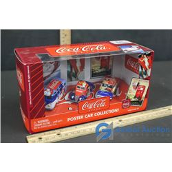 Coca-Cola Brand Poster Car Collection 1:64 Scale Die-Cast Metal Bodies and Chassies