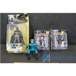 Batman Figurine, Marvel Wolverine and NightCrawler Motorized Twist'ems etc.
