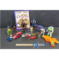 Assorted Kids Toys with Dragon Book