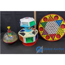 Chinese Checker Game, Karosel Kitchen and Spin Top