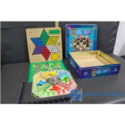 Trouble Game, Chess Board, Chinese Checkers Board, Snakes and Ladders, etc.
