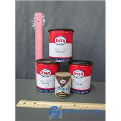 Esso Mica Axle Grease (3) and Esso Top Lube (sealed)