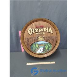 Export Type Olympia Beer Advertising Sign
