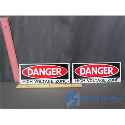 High Voltage Metal Signs (2)