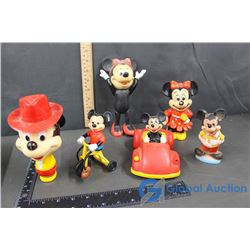 Vintage Disney Mickey and Minnie Toys - Water Gun, Radio, Coin Bank, etc.