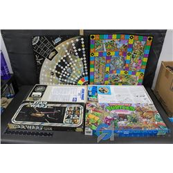Star Wars Escape From the Death Star Board Game & Teenage Mutant Ninja Turtles Pizza Power Board Gam