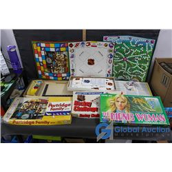 Hockey Challenge Trivia, The Bionic Woman, and The Partridge Family Board Games