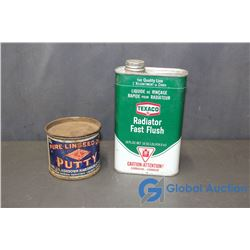 Pure Linseed Oil Putty and Texaco Radiator Fast Flush