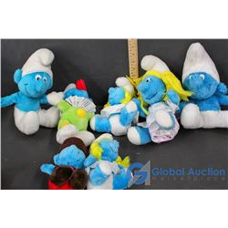 Assortment Of Smurf Plushies