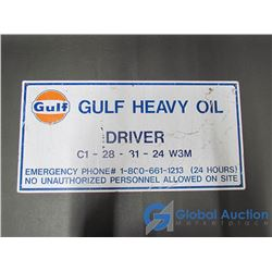 Gulf Heavy Oil Metal Sign