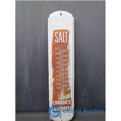 Tin Salt Advertising Thermometer