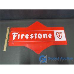 Tin Firestone Sign