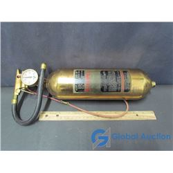 Vintage Brass Stempel Fire Extinguisher